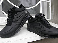 Зимние кроссовки Nike н9 чёрные и синие