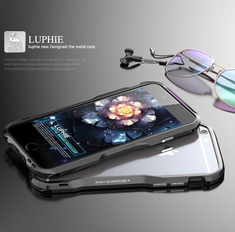 Металлический бампер для iPhone 6 6S Luphie