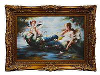 """Картина """"Дама с ангелом"""" 90Х60 см (рама 120Х90см) ed107-174-3"""