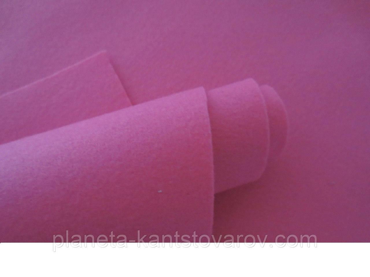 Фетр малиновый 20 листов (1мм/20см х 30см)7733