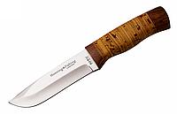 Нож охотничий 2253 BLP, чехол, рукоять дерево и береста, ножи охотничьи, для охоты