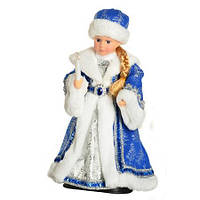 Новогодний сувенир Снегурочка музыкальная 40 см