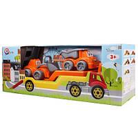 Игрушка «Автовоз с набором стройтехника» 3930 Технок