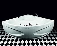 Акриловая угловая ванна Rialto Garda 140 + панель + сифон