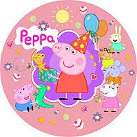 Тарілки одноразові дитячі свинка пеппа рожеві 10 шт