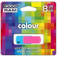 Флэш-драйв GOODRAM COLOUR 8 GB MIX Емкость: 8 Гб;Скорость чтения / записи: 20/5 Мб / сек;интерфейс: USB 2.0