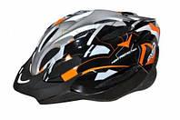 Шлем велосипедный VOYAGER SHINY ORANGE/BLACK A0169-L