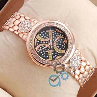 Женские часы наручные Guess crystal Pink Gold/Black