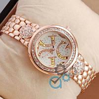 Женские часы наручные Guess crystal Pink Gold/White