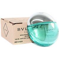 Мужская туалетная вода Bvlgari Aqva Marine Pour Homme for Men Eu de Toilette (EDT) 100ml, Тестер (Tester), фото 1