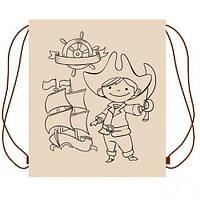 Детский эко Рюкзак - раскраска для вещей «Пират» Украинская Оселя