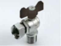 """Кран угловой внеш. с накидной гайкой для подключения водяного счетчика 1/2"""" зовн.х1/2"""" внутр."""