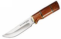 Нож охотничий 2284 WP, чехол, рукоять дерево, ножи охотничьи, для охоты