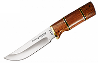 Нож охотничий 2284 WP, чехол, рукоять дерево, ножи охотничьи, для охоты, фото 1