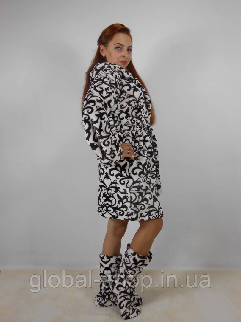 Женский халат плюс сапожки Код 015
