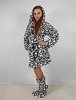 Женский халат плюс сапожки Код 015, фото 4
