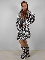 Женский халат плюс сапожки Код 015, фото 5