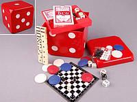 """Игры настольные """"Шахматы, шашки, нарды, домино, карты, покер"""" Куб"""