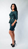 """Модное молодежное платье """"Баска"""" зеленого цвета"""