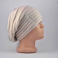 Берет-шапка «Оливия» жемчужный