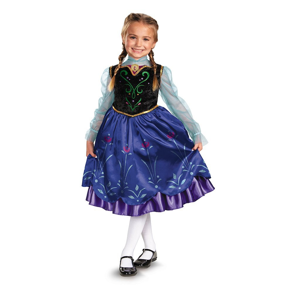 Карнавальный костюм принцесса Анна Холодное сердце Disney's Frozen Anna Deluxe Girl's Costume 7-8 лет, Киев
