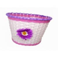 Корзина передняя пластик с фиолетовым цветком