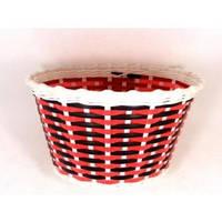 Корзина передняя пластиковая красно-черный