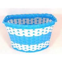 Корзина передняя пластиковая синий плетенка