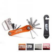 Ключ super-b перочинный нож, 18 функции оранжевый SUPER B