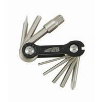 Ключ super-b перочинный нож, 10 функций черный SUPER B