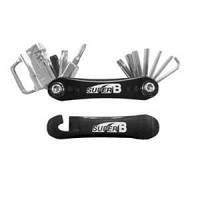 Ключ super-b перочинный нож 18 функций черный SUPER B