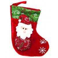 Новогодний носок «Дед Мороз» 9х19