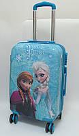 """Детский чемодан дорожный, кодовый замок """"Josef Otten"""" Холодное Сердце, Frozen 20"""" на четырех колесах 520299"""