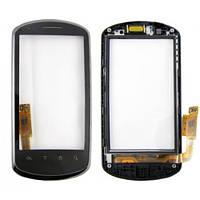 Тачскрин сенсорное стекло для Huawei U8800 Ideos X5 with frame black