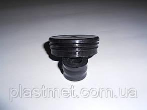 Заглушка для труби 50 мм кругла пластикова