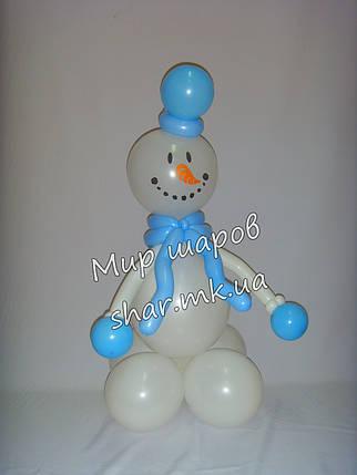 Снеговичек из воздушных шаров, фото 2