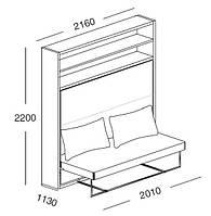 Мебель-трансформер Clei ADAM SOFA