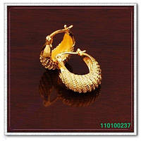 Сережки. Покриття Золото 24К (999 проба).  0237
