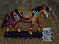 Декоративная цветная фаянсовая Лошадь 16 сантиметров высота.