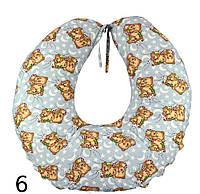 Подушка для беременных и кормления грудью с наволочкой 65х65 см, бязь, наполнитель силикон ТМ Руно Украина