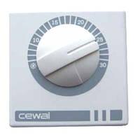 Комнатный механический термостат на 16 А Cewal RQ01 ОПТ!
