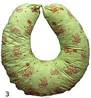 Подушка для кормления с наволочкой 65х65 см, бязь, искусственный лебяжий пух ТМ Руно Украина