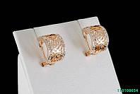 Сережки. Покриття Золото. SWAROVSKI. 0654
