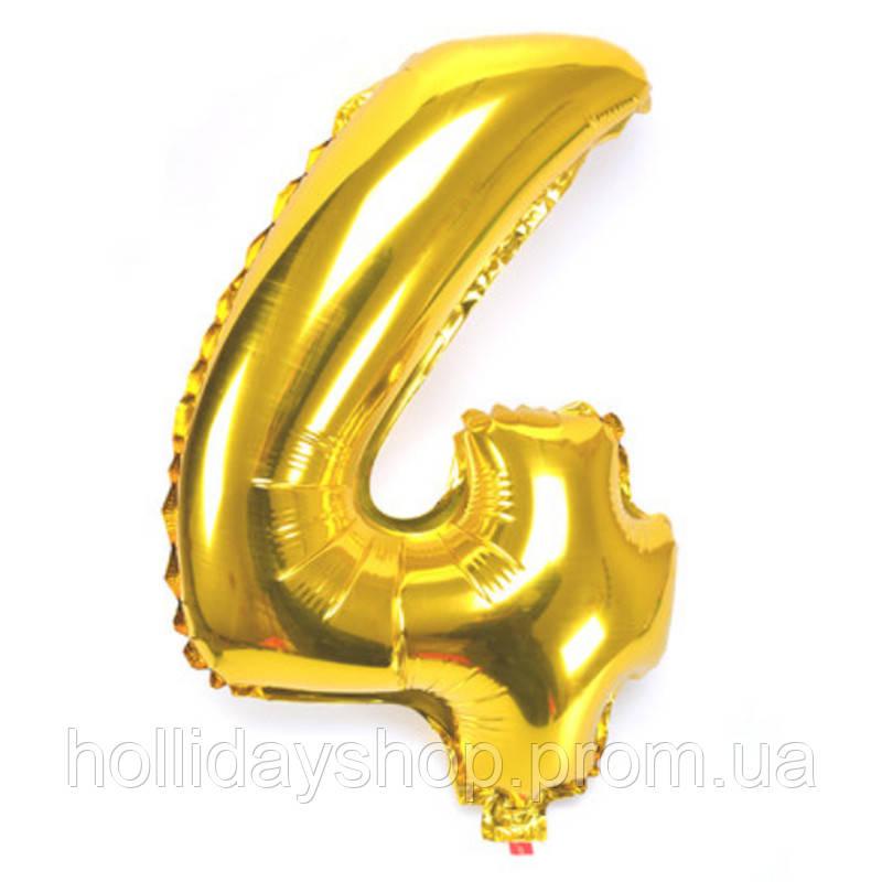 Цифра золото *4* 80 см