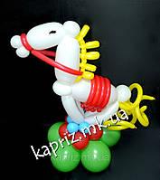 Милая лошадка из шаров