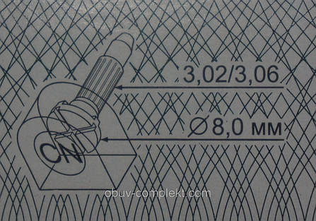 Набойка полиуретановая со штырьком CN №13 цв. черный, бежевый, фото 2