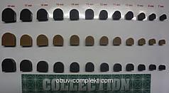 Набойка полиуретановая со штырьком CN №17 цв. черный, бежевый
