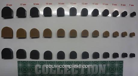 Набойка полиуретановая на штыре CN №16 цв. черный, бежевый, фото 2