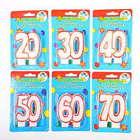 "Свеча в торт на день рождения цифра ""50"""