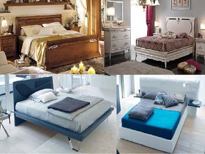 СПАЛЬНІ з ІТАЛІЇ: Ліжка, Тумби, Комоди, Шафи, Ліжка з контейнером